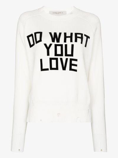 delilah slogan knit sweater