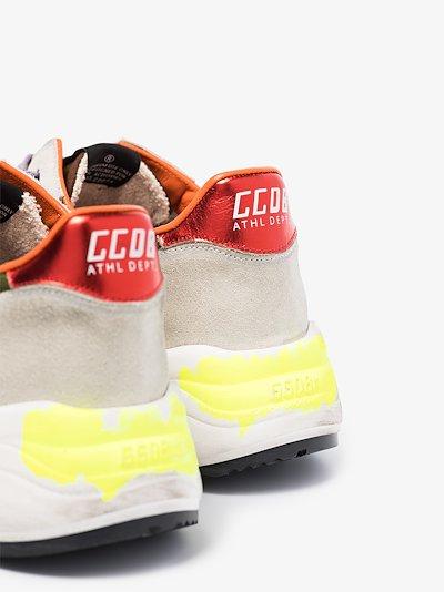 Grey Running Sole camo sneakers