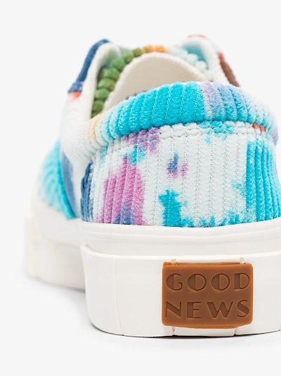 Multicoloured Opal tie-dye corduroy sneakers