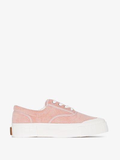 pink Opal corduroy low top sneakers