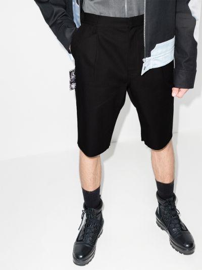 Ring patch pocket Bermuda shorts