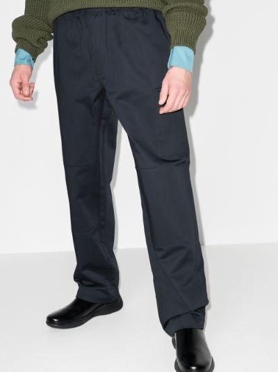 straight leg combat trousers