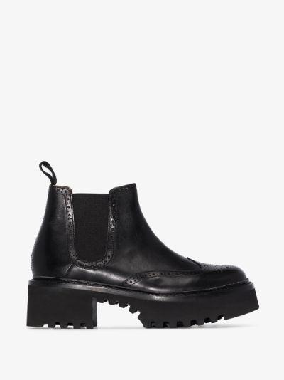 Black Alissa 30 leather Chelsea boots