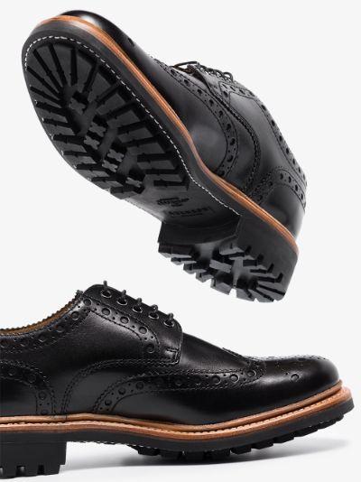 black Archie leather Derby shoes