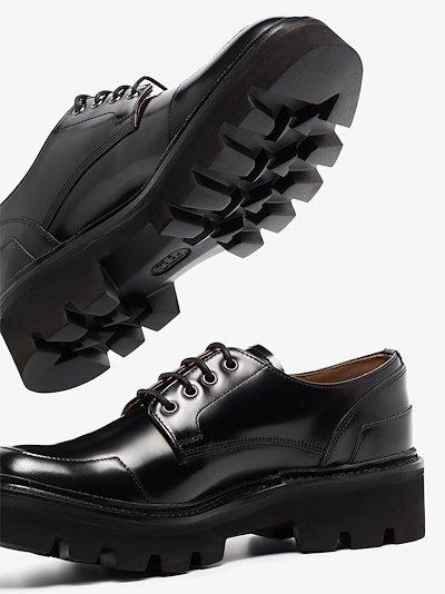 Black Barbara chunky leather brogues