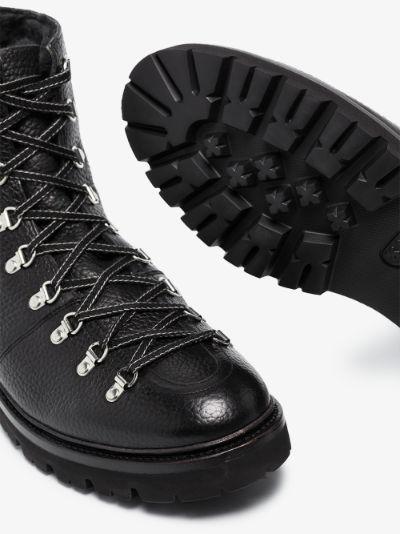 Black Brady leather hiking boots