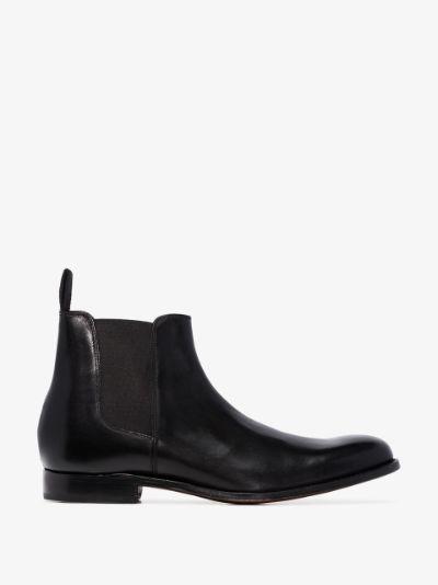 Black Declan Leather Chelsea Boots