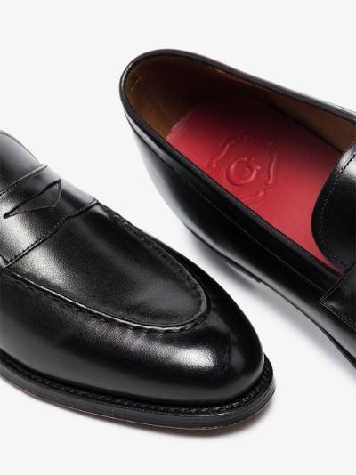 Black Lloyd Leather Loafers