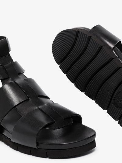 black Lottie leather sandals