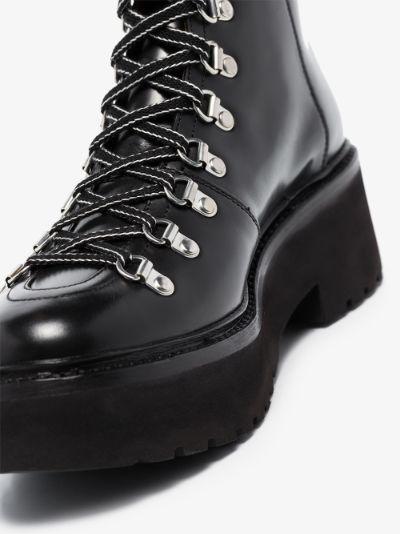 black Nanette 65 leather hiking boots