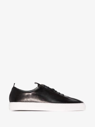 Black Sneaker 1 leather sneakers
