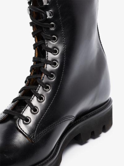 black Sullivan leather combat boots
