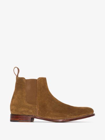 brown declan suede chelsea boots