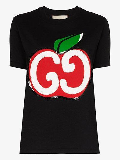 apple logo cotton T-shirt