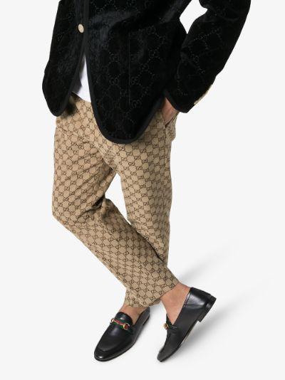 Black Brixton Horsebit leather loafers
