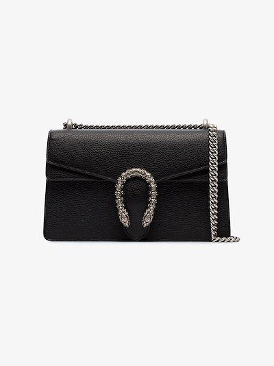 black Dionysus leather shoulder bag