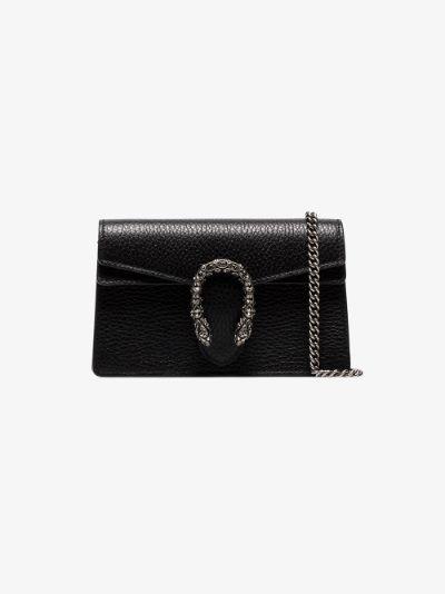 black Dionysus leather super mini bag
