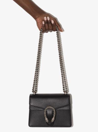black Dionysus mini leather shoulder bag