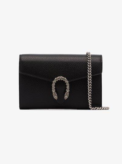 black Dionysus small leather shoulder bag