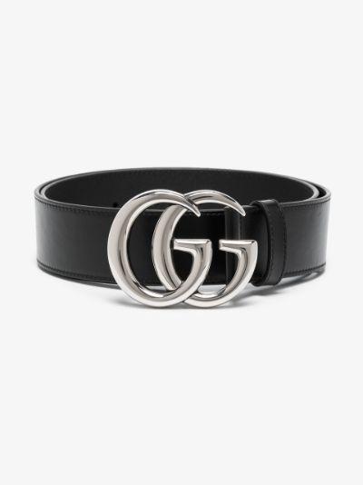Black GG Marmont leather belt