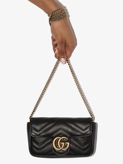 black GG Marmont leather mini bag