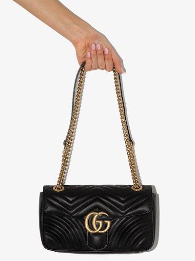 black GG Marmont small leather shoulder bag