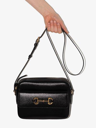 black Horsebit 1955 leather cross body bag