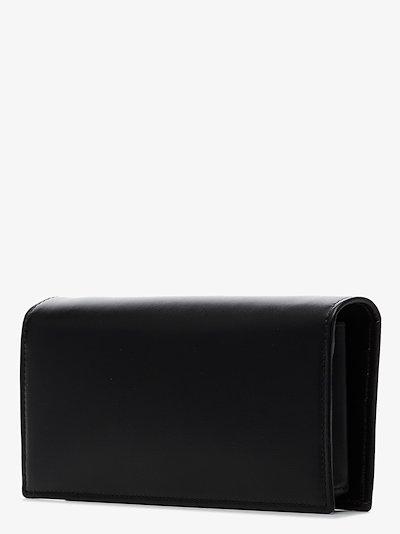 black Horsebit 1955 leather wallet on chain