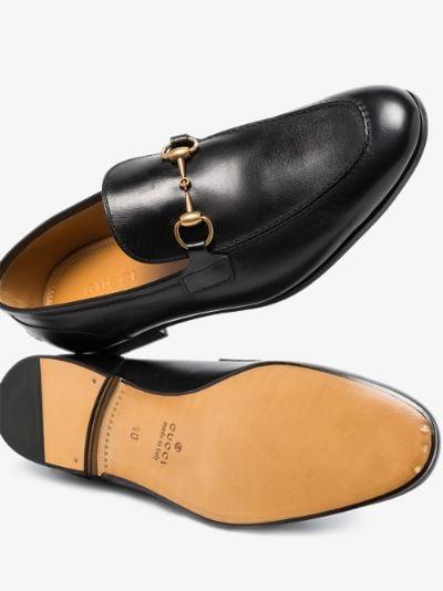black Jordaan leather loafers