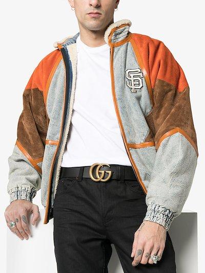 black Marmont GG logo leather belt