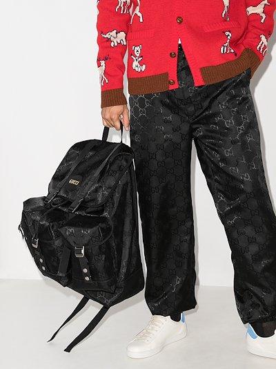 black Off The Grid logo backpack