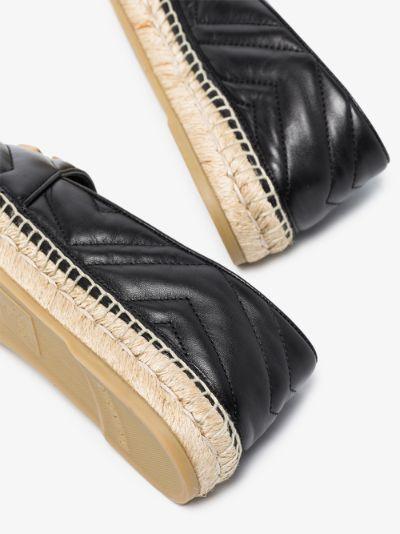 black Pilar leather espadrilles