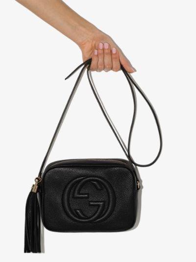 Black Soho disco leather camera bag
