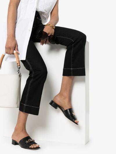 black Zumi 25 GG leather sandals