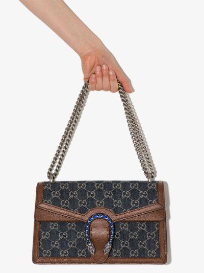 blue Dionysus small denim and leather shoulder bag