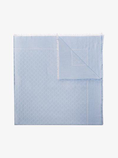 Blue GG Supreme jacquard scarf