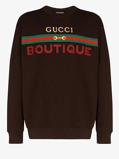 Boutique logo cotton sweatshirt