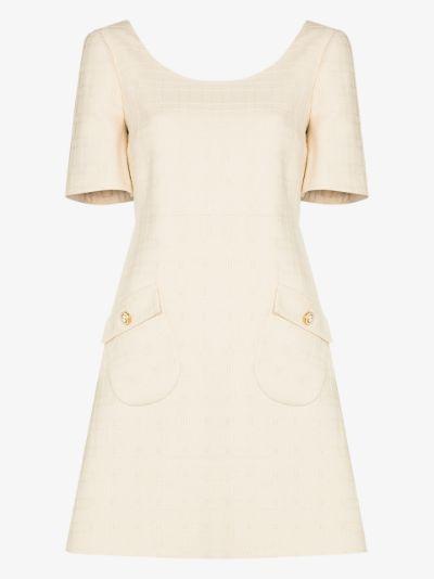 brocade mini dress