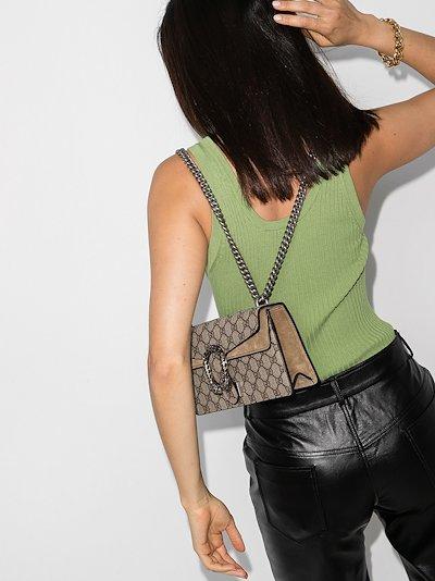 brown Dionysus GG Supreme small shoulder bag