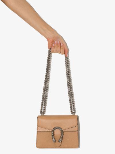 brown Dionysus mini leather shoulder bag