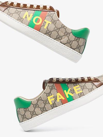 brown Fake/Not Ace monogram sneakers