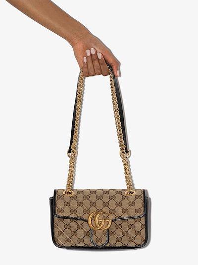 brown GG Marmont mini shoulder bag