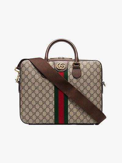 brown GG Supreme briefcase