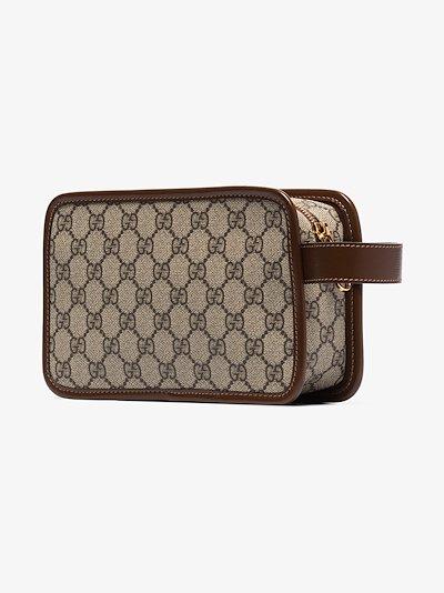 brown GG Supreme travel pouch