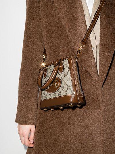 brown Horsebit 1955 GG Supreme top handle bag