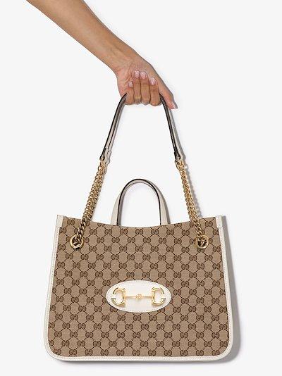 brown Horsebit 1955 GG Supreme tote bag