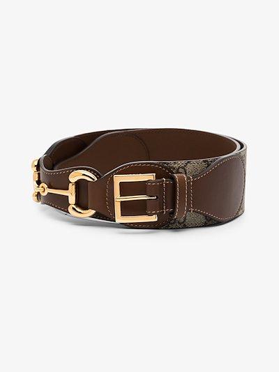 brown Horsebit GG Supreme belt