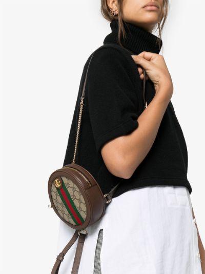 brown Ophidia GG Supreme mini backpack