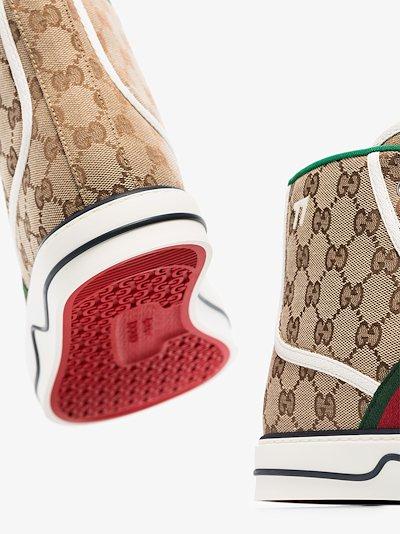 brown Tennis 1977 high top sneakers