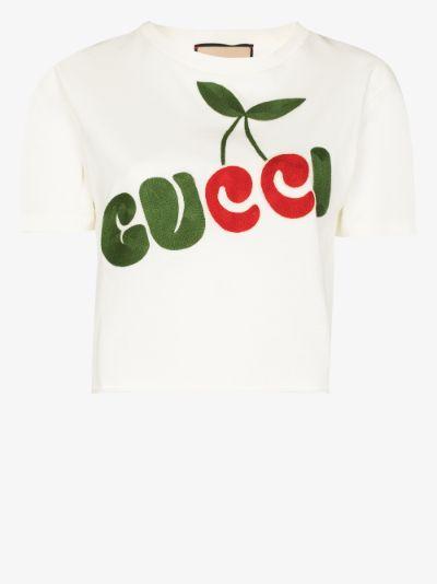 cherry logo-print T-shirt